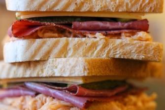 Das Reuben Sandwich, vor dem toasten!